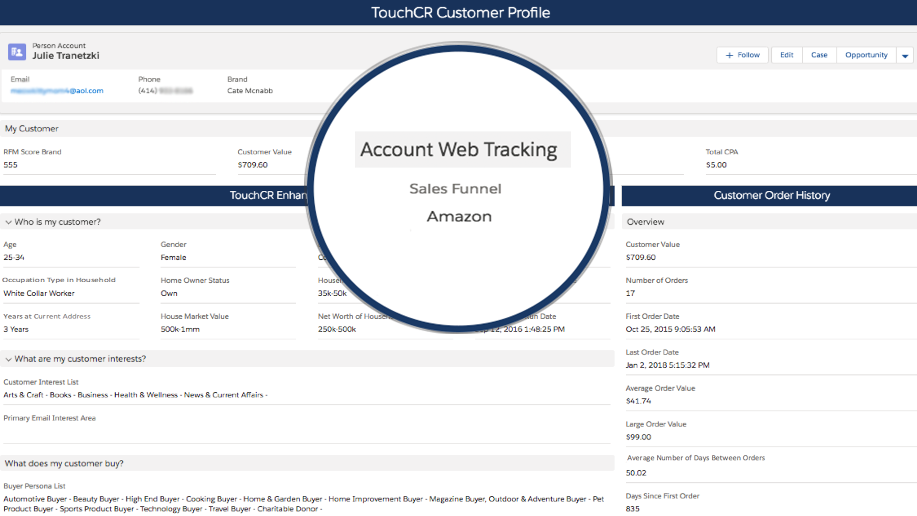 Customer Matching on Record Inside System