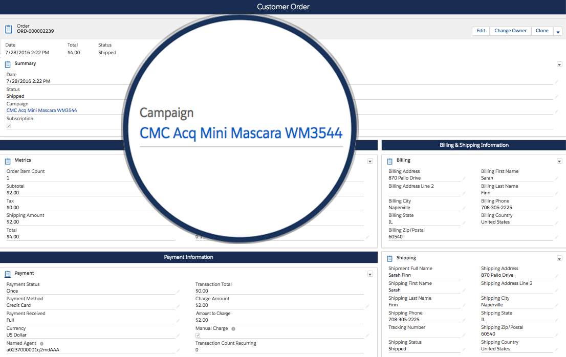 Automated Association of Orders, Leads and Customers to Campaign Based on Tracking Data Input