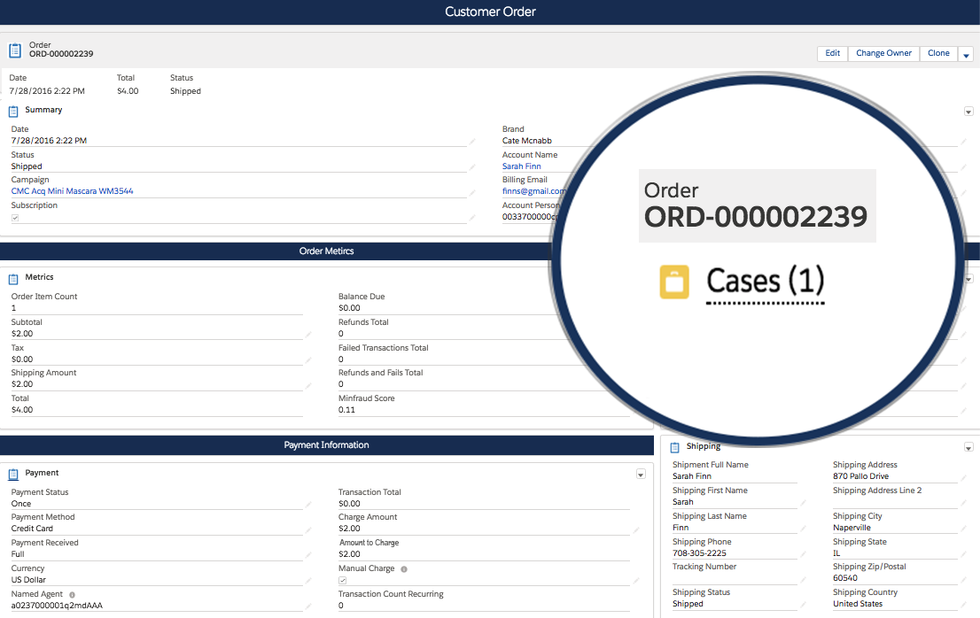Case Management on Order