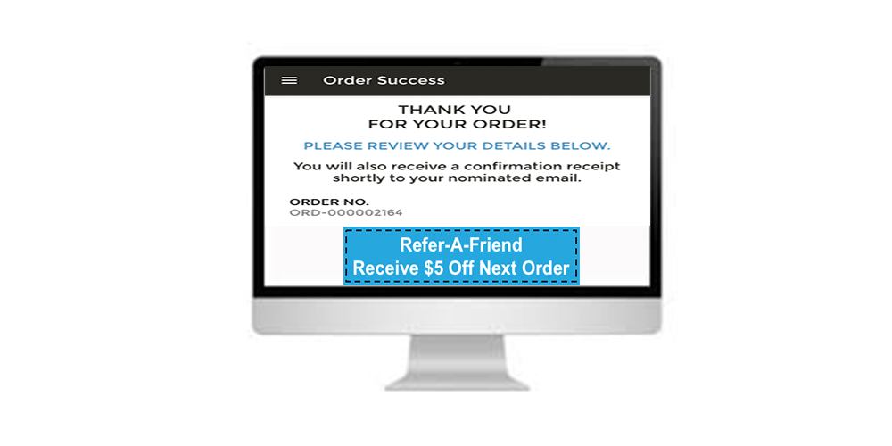 Post Purchase Screen for Referral Entry on NOW